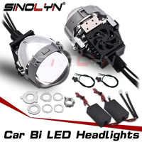 SINOLYN 2,5 ''lentes de proyector bi-led en faros H7 H4 H1 9005 9006 bombillas led accesorios de coche estilo de actualización DIY