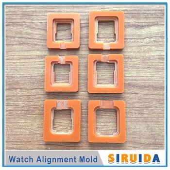 6 шт. 42/38/40/44 мм точное расположение формы для Apple Watch 2 3 4 сломанное стекло OCA Сенсорное стекло ЖК-дисплей ремонт