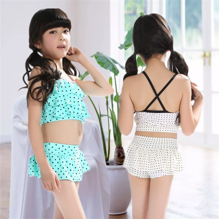 New Style Bikini KID'S Swimwear Girls Swimwear GIRL'S Big Boy Beach Dress-Cute Swimwear