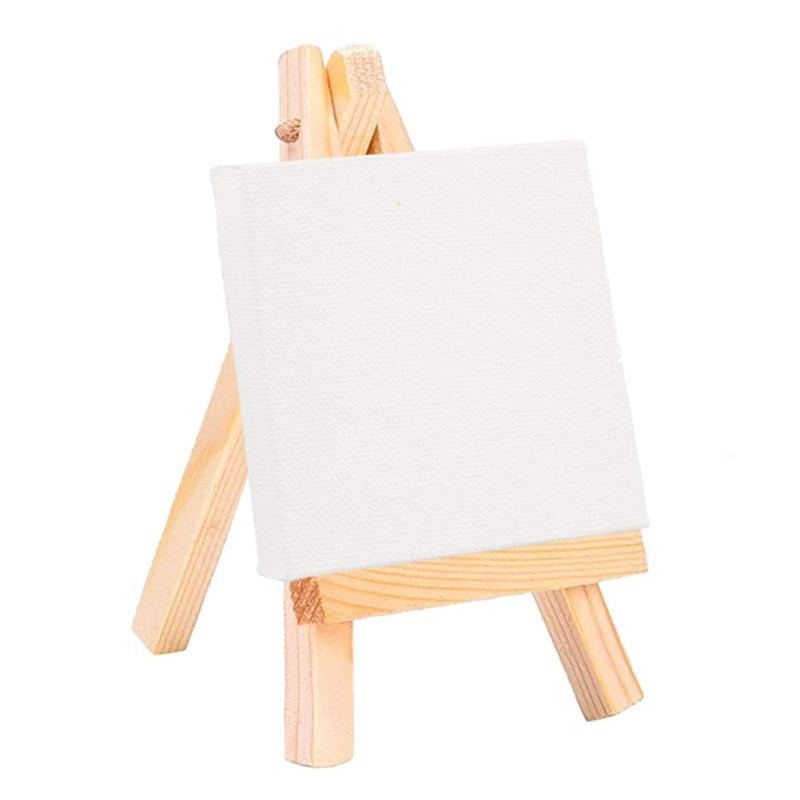 Wooden Mini  White Canvas For Painting Acrylic Paint With Quality Easel Art Supplies For Painting Artist Stationery Kids Gifts