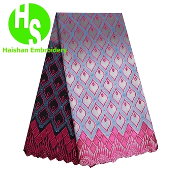 Gradient Color Newest Africa Swiss Voile Cotton Laces for Wedding Party High Quality Cotton Laces Fabric Embroidery