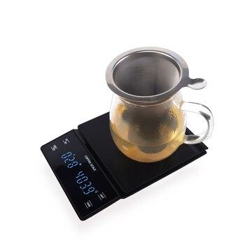 ɛ�子コーヒースケール手多彩なバー電子スケールグラムスケールタイマー 3 Â�ロキッチンスケール Led Ã�ィスプレイ食品スケール
