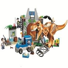 10920 Jurassic World Dinosaurs Tyrannosaurus Breakout 168Pcs Blokken Speelgoed Geschenken Compatibel Met Lepining Jurassic Geparkeerd