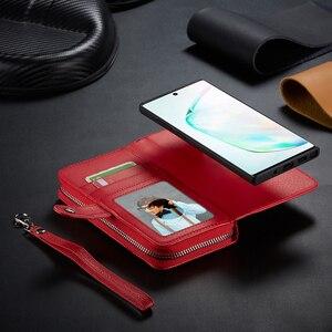Image 3 - Fermeture à glissière portefeuille en cuir étui pour samsung Galaxy S10 Plus S10e S9 Plus S8 Plus Note 10 Plus 9 8 sac à main pochette coque de téléphone