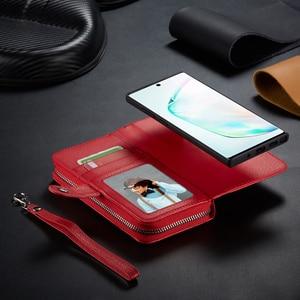 Image 3 - רוכסן ארנק עור מקרה עבור Samsung Galaxy S10 בתוספת S10e S9 בתוספת S8 בתוספת הערה 10 בתוספת 9 8 תיק פאוץ טלפון מקרה Flip כיסוי