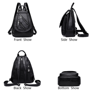 Image 3 - Weave Backpack Female Genuine Leather Backpack Women Large Capacity Travel Bag Zipper Shoulder Bags for Women 2020 Sac