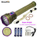 Professional Scuba Diving Flashlight 12x L2 30000LM Waterproof 18650 Dive Torch Underwater 100M Hunting Lamp For Diver