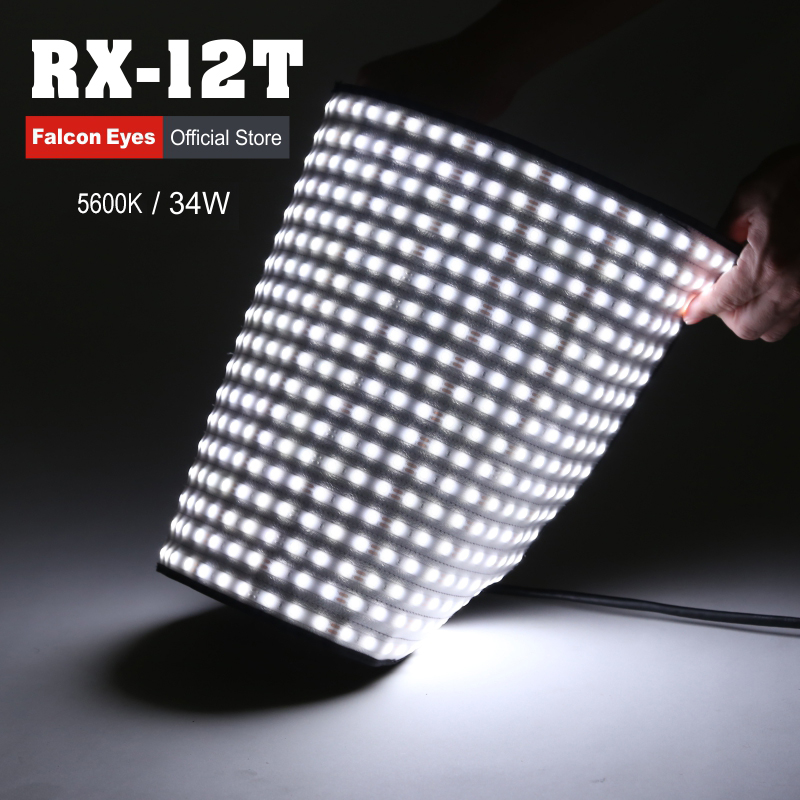 Falcon Eyes 34W LED Photographing Light Flexible Photo Lamp Portable For Camera Video/Studio/Interview/Movie Fotografia RX-12T