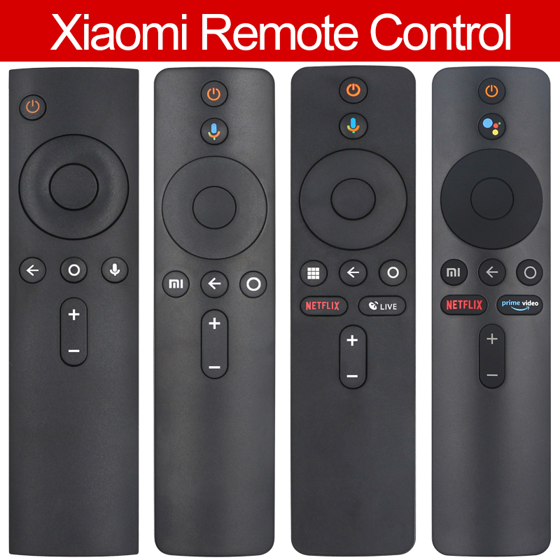 Used Replace For Xiaomi Mi TV Box S BOX 3 Voice Bluetooth Remote Control with the Google Assistant Control Free Gift  Protective