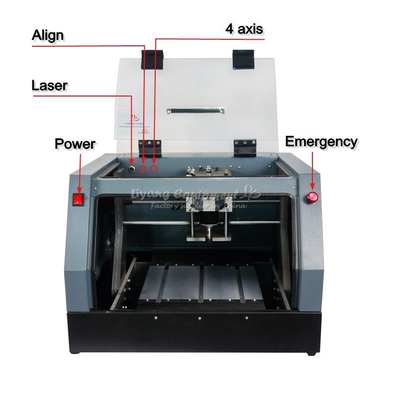 Full Enclosed CNC 3020 Router Engraving Drilling And Milling Machine Ballscrew 320W Spindle All-in-one USB-CNC Mach3 System