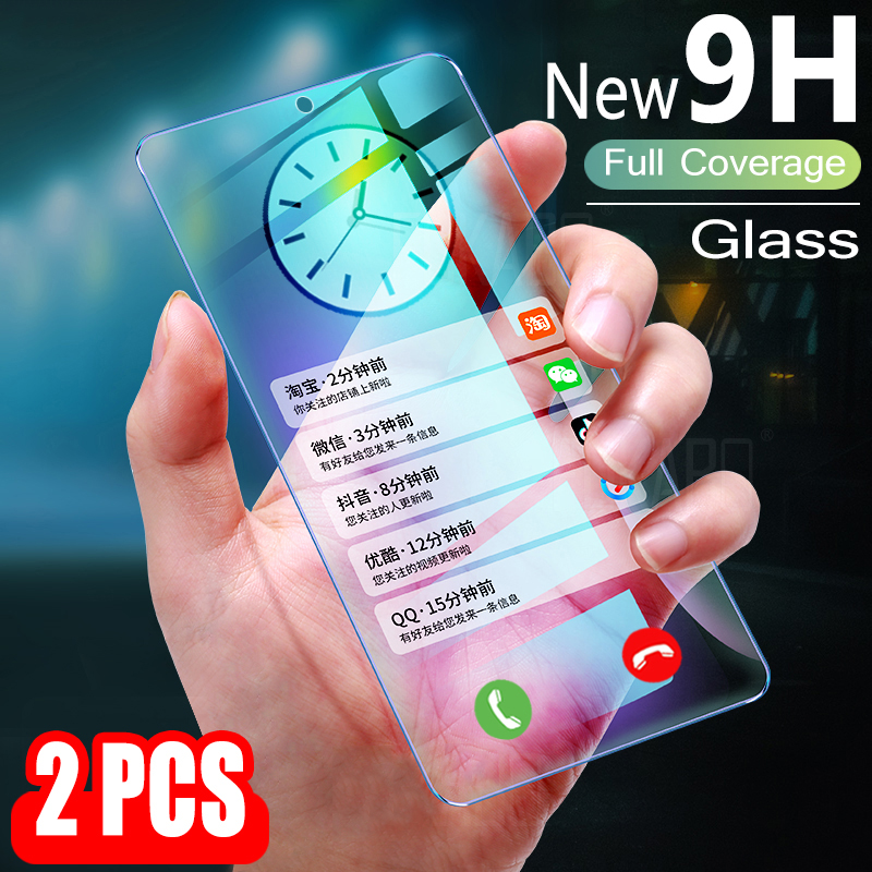 2pcs Tempered Glass For Oppo Reno 2 2F 2Z Screen Protector New 9H 2.5D Protective Glass For Oppo Reno 4G 5G Global 2 F Z Film