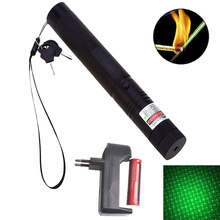 Hunting 5000m 532nm Green Laser Sight laser pointer high Powerful Adjustable Focus Lazer with laser 303+charger+18650 Battery(China)