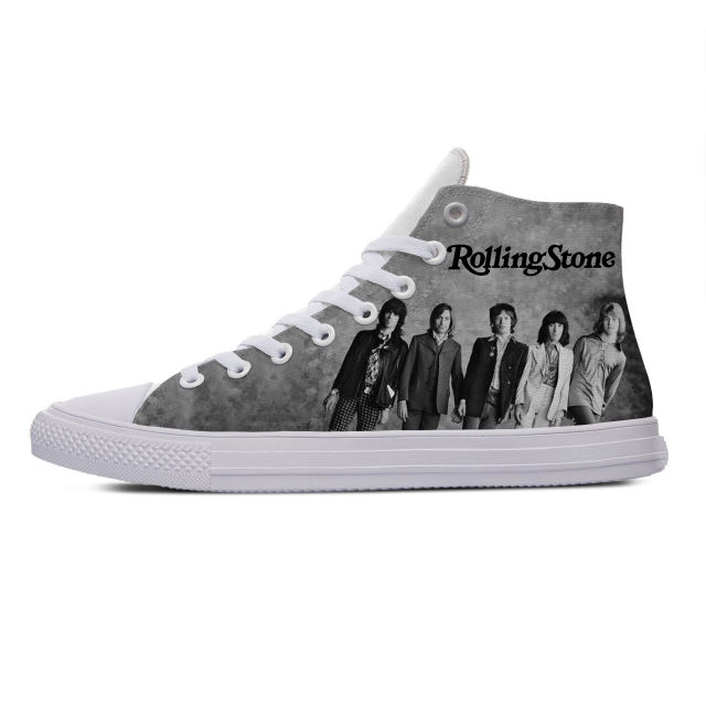 ROLLING STONES THEMED HIGH TOP SHOES (5 VARIAN)