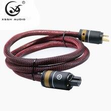 YIVO HI END XSSH audio wzmacniacza Hifi OFC czystej miedzi pozłacane nas Euro ue IEC AC kobieta mężczyzna wtyczka zasilania kabel zasilający przewód
