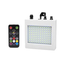 25W LED luces de escenario 108 Patch Strobe luces Mini Control de sonido iluminación efectos especiales Flash lámpara para Bar KTV salón de baile(China)