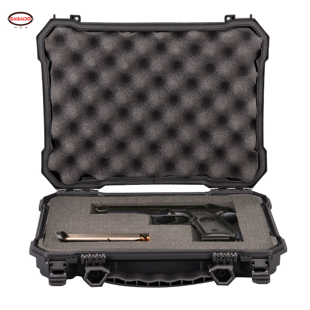 Tactical Gun Pistol Camera Protective Case Customized Foam Watertight Hard Shell Tool Storage Box 10.2 Inch Hunting Accessories