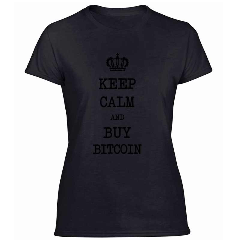 Grappig Houd Kalm En Koop Bitcoin! Btc Cyber Eth Gift T-shirt Mannen Koele Vrouwen T Shirts O-hals Plus Size S-5xl