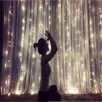 Wodoodporna gwiazda led kształty na sznurku światło na zewnątrz świąteczne wesele ogród Party dekoracyjne bajkowe oświetlenie w Girlandy świetlne od Lampy i oświetlenie na