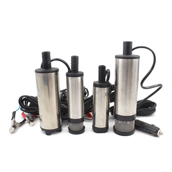 Oil Diesel Fuel Pump DC 12V 24V Electric Submersible Pump Stainless Steel Mini Transfer Car Oil Kerosene Pump Suction 30L/min submersible diesel fuel water oil suction pump with filter accessories stainless steel dc 12v 24v 30l min 60w car portable