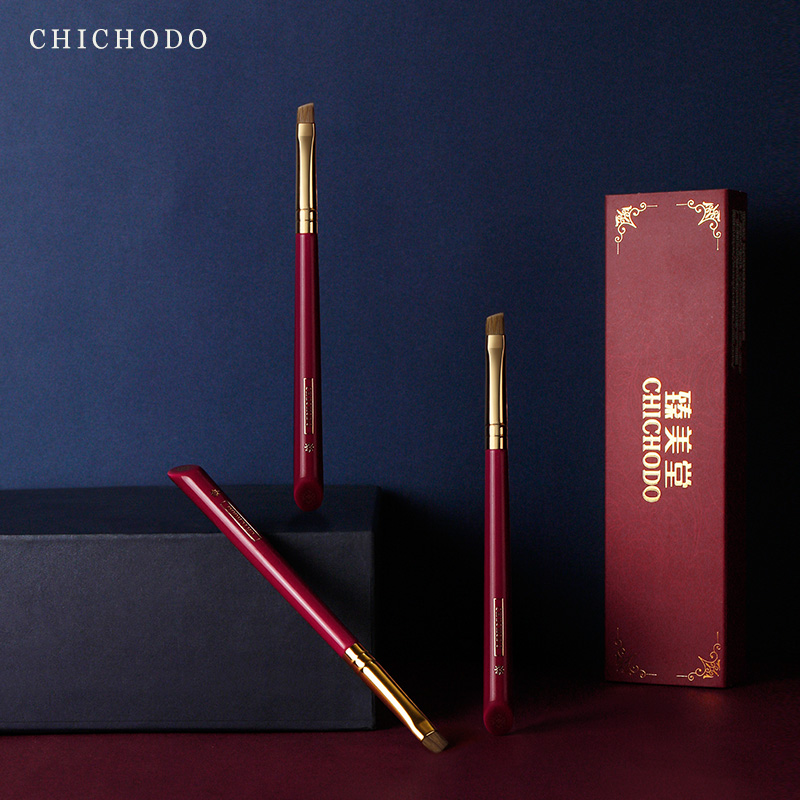 CHICHODO makeup brush-Luxurious Red Rose series-high quality weasel tail hair eyebrow brush-cosmetic tool-natural hair make