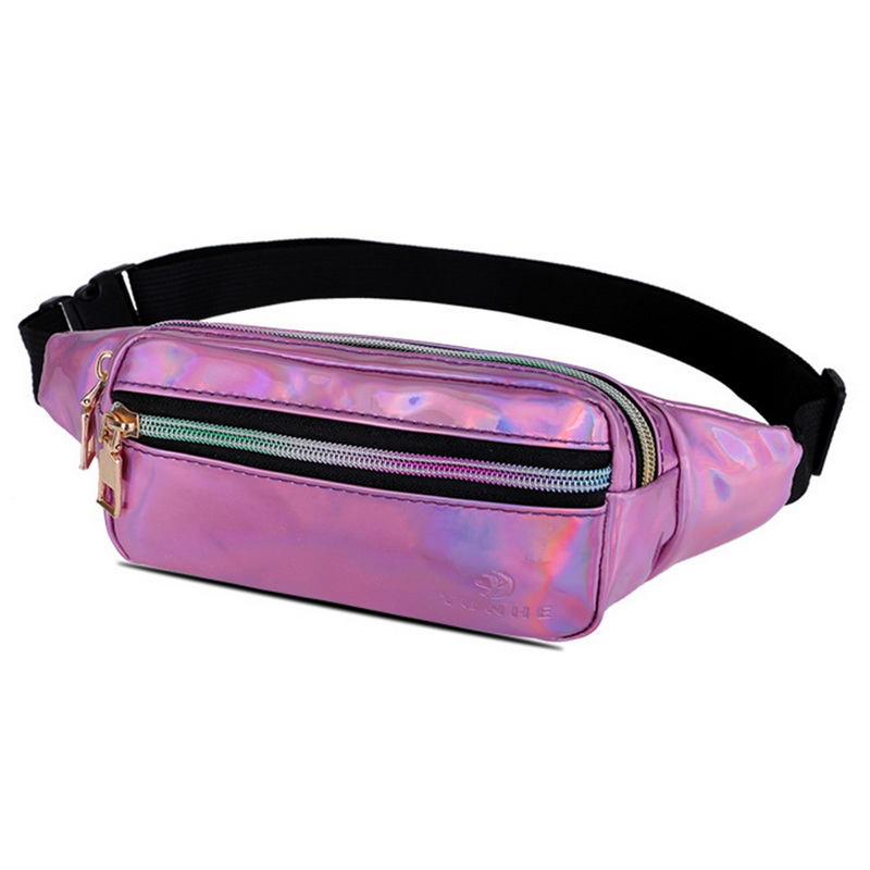 LOOZYKIT Fanny Pack Women's Belt Bag Unisex Double Zipper Bags Leather Crossbody Purse Waist Bag Chest Phone Pouch