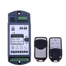 Controle remoto universal automático sem fio, porta com 1 receptor + 2 transmissores kit para porta deslizante de vidro automático dorma