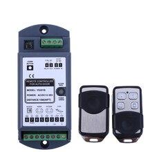 Télécommande sans fil de porte automatique (1 récepteur + 2 émetteurs), kit pour porte coulissante en verre automatique dorma