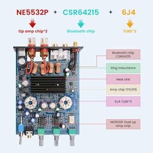 Image 5 - AIYIMA 50W * 2 TPA3116D2 Bluetooth 4.2 Vacuüm 6J4 Buis HiFi Digitale Versterkers Stereo Power Sound Versterker Met Treble bass Tone