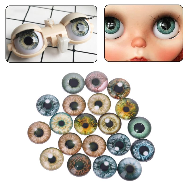 20Pcs Glass Doll Eyes Animal DIY Crafts Eyeballs For Dinosaur Eye Accessories Jewelry Making Handmade 8mm/12mm/18mm