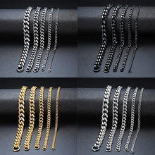 Chain Bracelets Jewelry Cuban-Link Gifts Curb Stainless-Steel Men Wrist for Wholesale