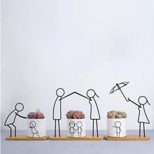 Pot de fleurs Succulent en céramique, Pot de fleurs Simple et moderne, abstrait, compagnon Parent-enfant, décoration pour la maison, 1 ensemble