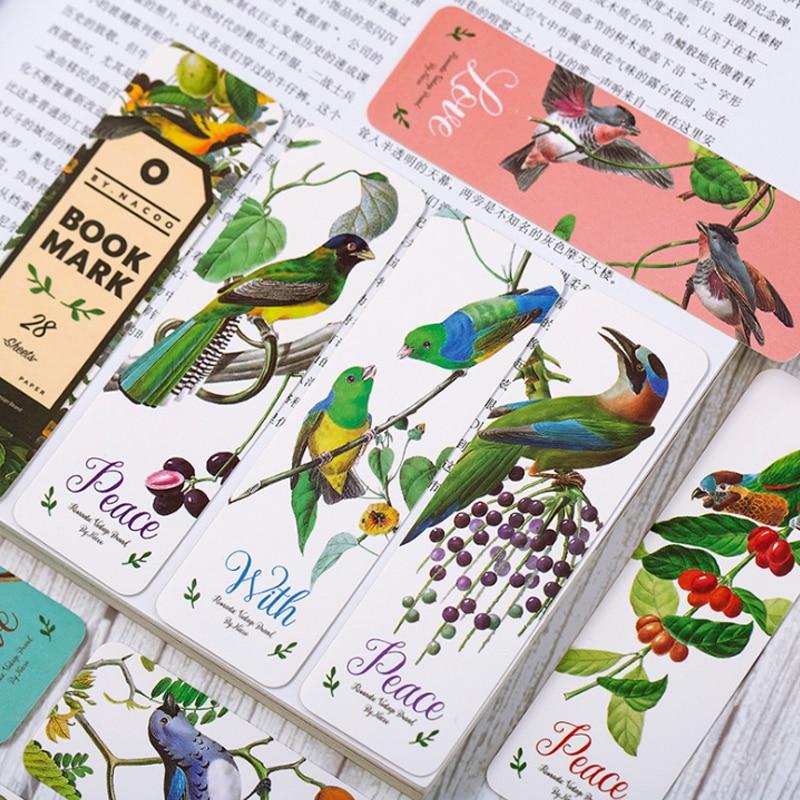 28pcs/pack Vintage Art Girl Starry Sky Fruit Bookmark For Books Papelaria Office Decoration Material Escolar Papelaria CriativaV