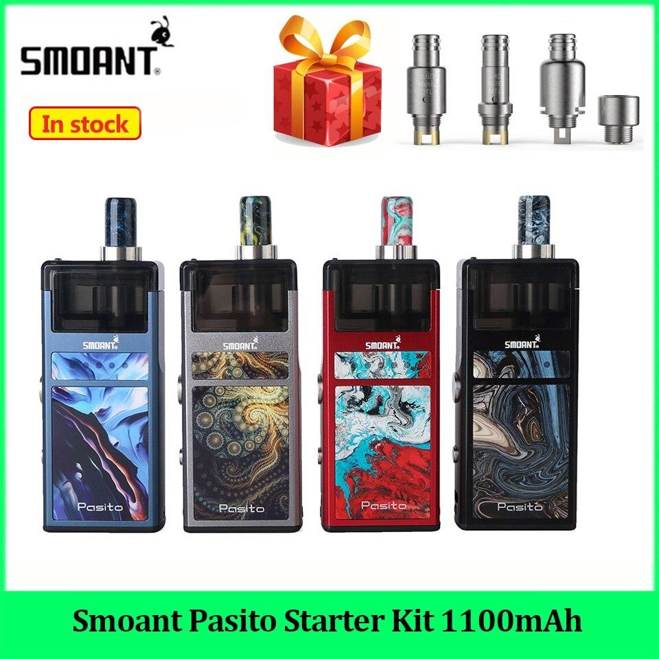 Original smoant pasto starter kit 1100 mah sistema de vagem rebuildable 3 ml atomizador mtl dtl vape caneta e cig starter kit