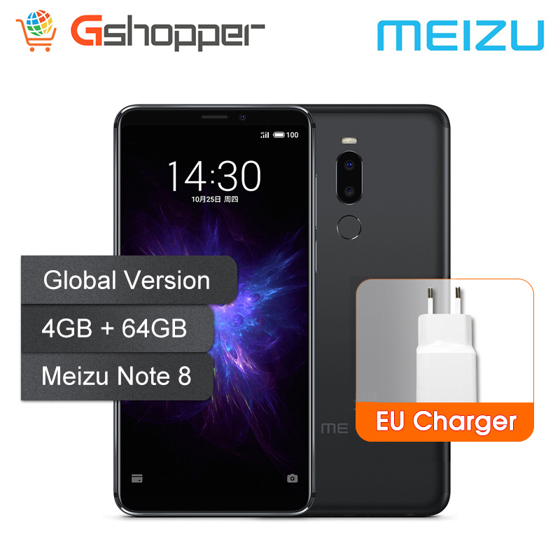 Global Version Meizu Note 8 4GB 64GB Mobile Phone Snapdragon 632 Octa Core Note8 Smartphone Full Metal Body Dual Rear Camera
