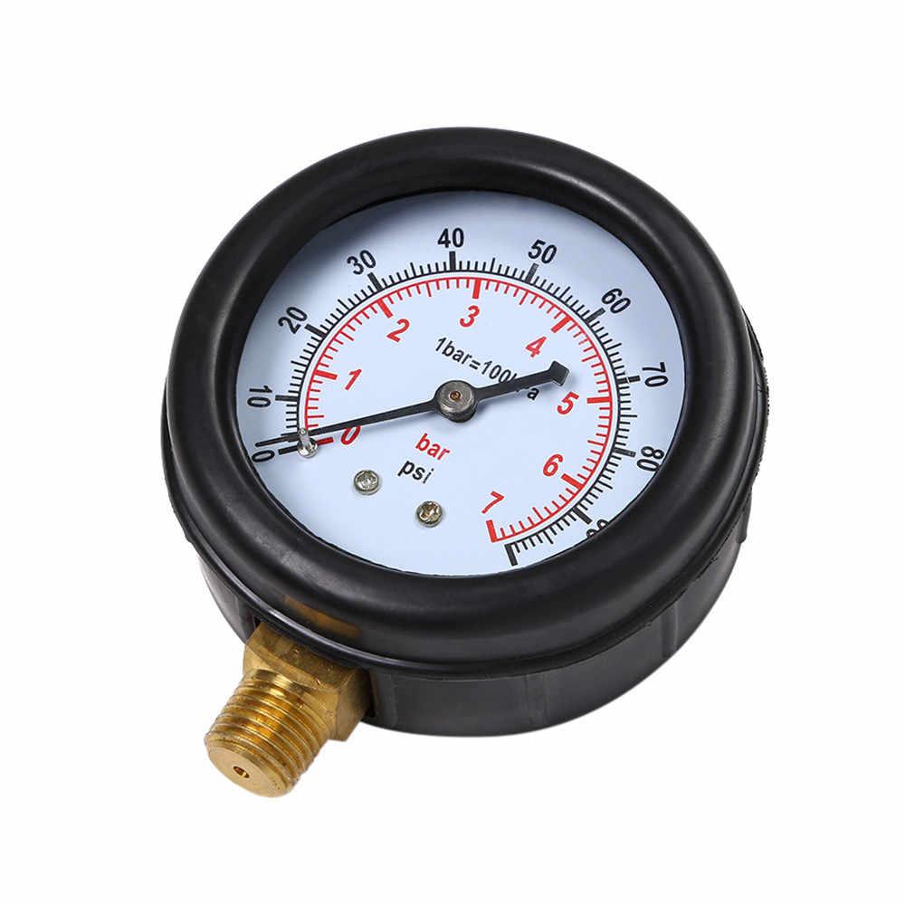 Çok fonksiyonlu araba yağ basınç göstergesi gaz motoru sıkıştırma silindir dayanıklı kauçuk silindir basınç göstergesi # BL4