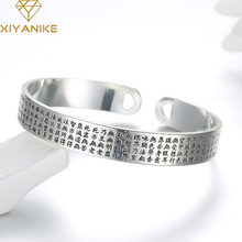 XIYANIKE-pulsera de plata de ley 925 con Sutra para mujer, brazalete creativo con flor de loto, accesorios de fiesta, regalos de joyería