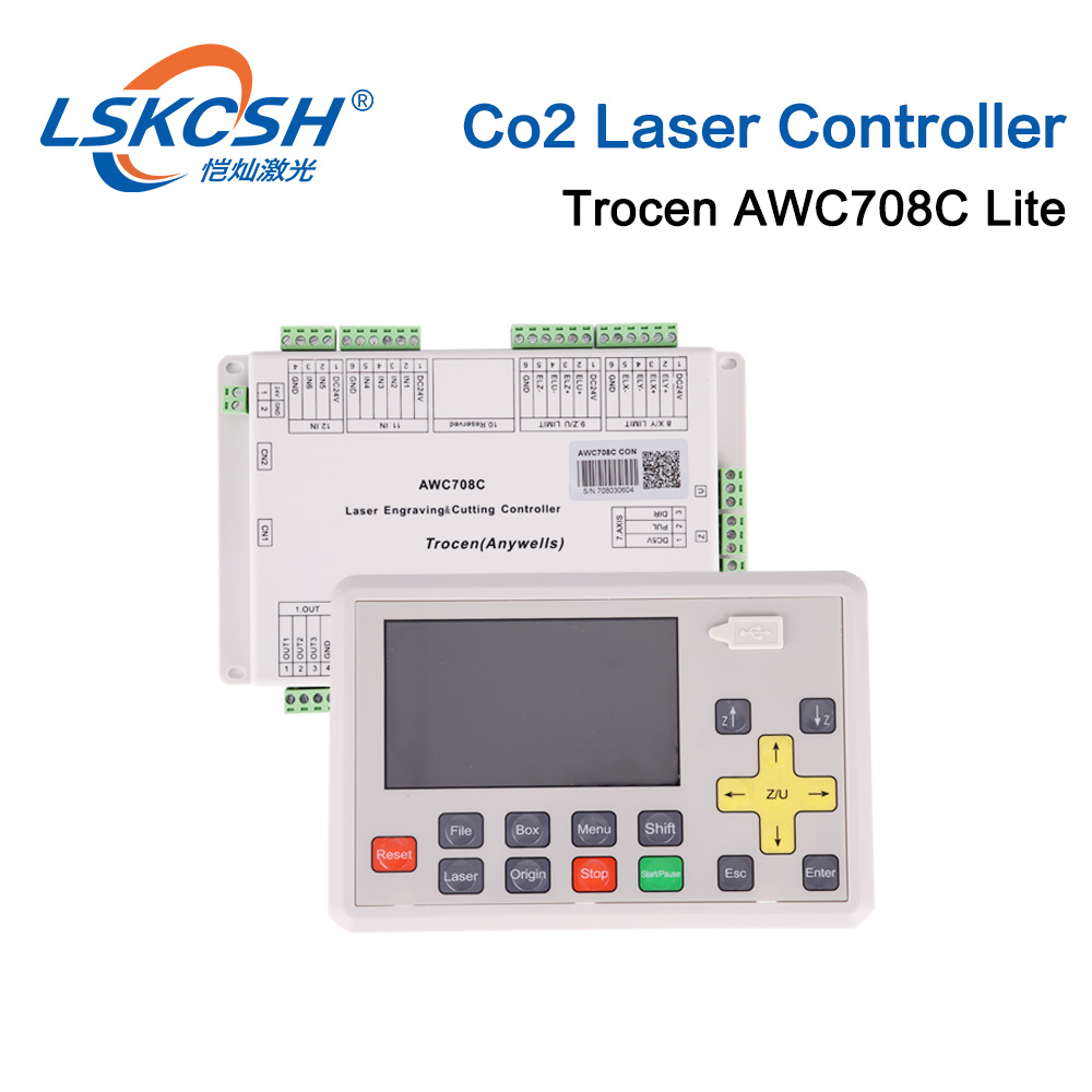 Trocen Anywells AWC708C LITE Co2 Laser Controller System Board Card For Laser Cutting Machine Engraving Machine Cutter Engraver