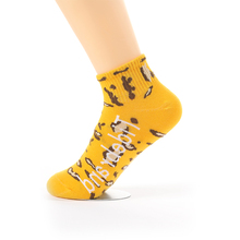 5 Pairs Of Socks For Women Spring And Summer Casual Short Sports Tide Personality Pattern Leopard Jacquard Cotton Female