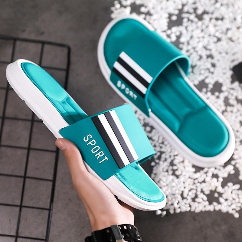 Summer Men Soft Bottom Slippers Brand Designer Beach Casual Shoes Anti Slip Indoor House Slippers Mens Comfortable Slides