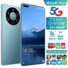 Global Version 7 2 Inch Full Screen Mate45 Pro  Smartphone Octa Core 6000mAh 12GB 512GB 4G LTE 5G Network Mobile Phone