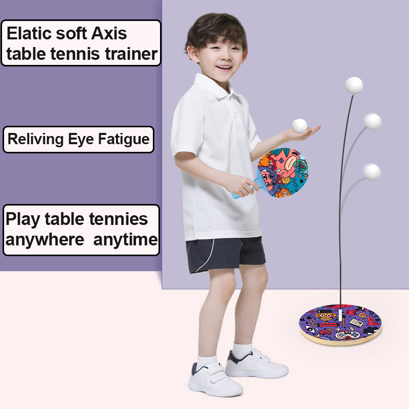 Table Tennis Set Trainer Ping Pong Training Equipment Racket Kids Ping-Pong Practice Indoor Sport Game Children Education