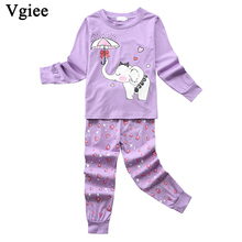 Vgiee Children Boys Girls Clothes Fall Winter Full Cotton Unisex Crtoon Pattern for Elephant Baby Kids Girl Set CC642