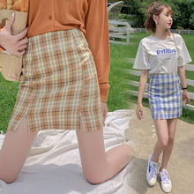 Мини юбка sutimine 2021 женские клетчатые юбки на молнии с завышенной