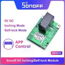 Itead Sonoff RE5V1C 5 فولت تيار مستمر واي فاي الجافة الاتصال التتابع وحدة دعم وضع إنشينج/سلفلوك التحكم عن بعد العمل عن طريق eWelink