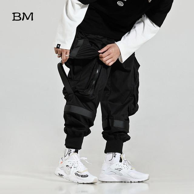 2019 Streetwear Joggers Hip Hop Trousers Men Big Pocket Black Harem Pants Men Techwear Clothing Fashions Korean Style Bts Bangtan Khaki Pants High Quality Kpop Loose Trousers 2