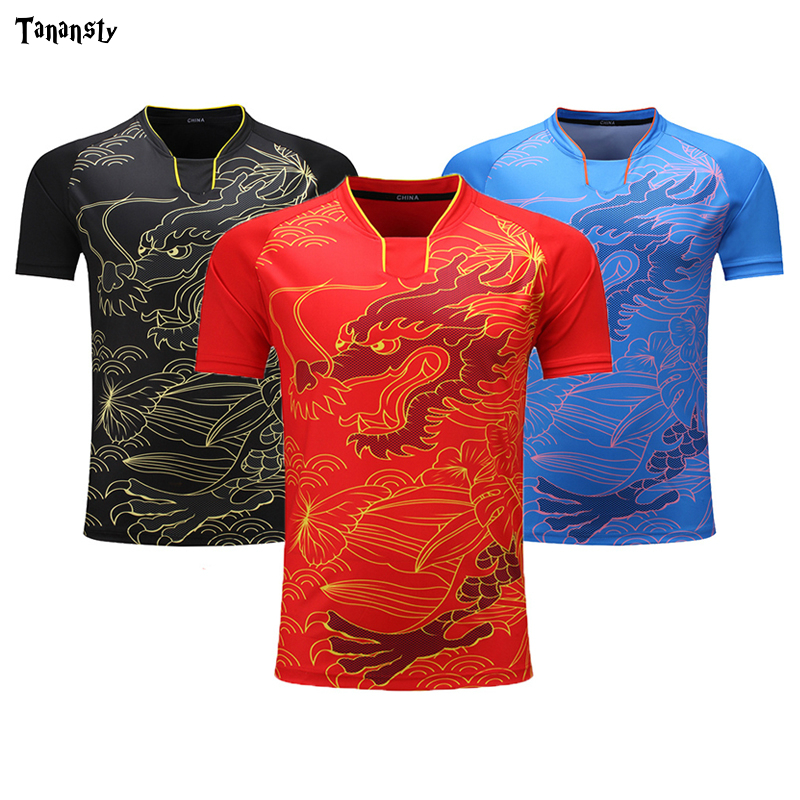 New Jersey Table Tennis Shirt Women / Men Pingpong Shirt China Ma L Ding N Uniforms Team Training T Shirts