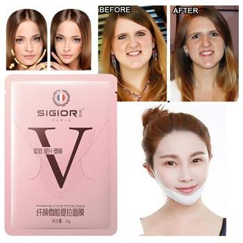 1/3/5pcs Lifting Face Masks V Shape Face Slim Chin Check Neck Brighten Lift Peel-off Mask Slim Firming Bandage Face Mask TSLM1