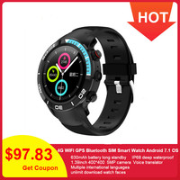 696 H8 Fashion 4G GPS Smart Watch IP68 waterproof Android 7.1 support Nano SIM 16GB/ROM Smartwatch Heart Rate Monitor Pedometer