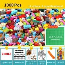 1000Pcs City Kreative Bunte Groß Sets Bausteine DIY Pädagogisches Technik Ziegel Montage Spielzeug Für Kinder Kinder Geschenke