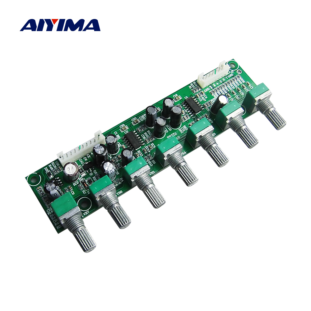 AIYIMA 5.1 Amplifier Preamplifier Tone Board Preamp 6 Channel Bass Frequency Volume Independent Adjustment For 5.1 Home Theater